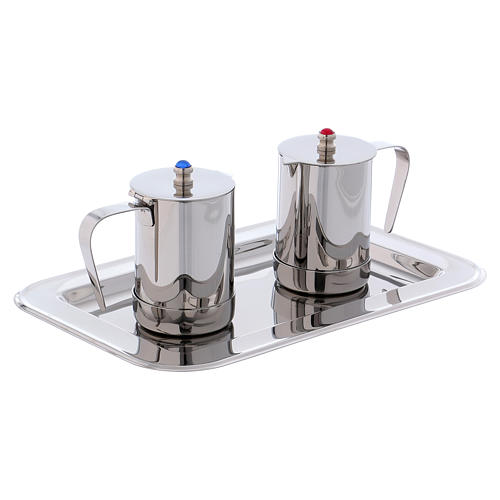 Molina cruets set for mass celebration in stainless steel 3