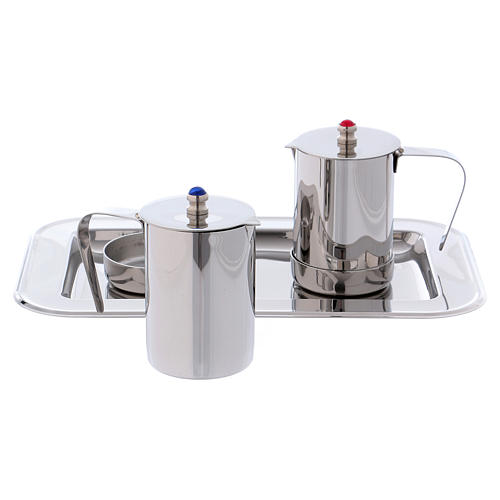 Molina cruets set for mass celebration in stainless steel 4