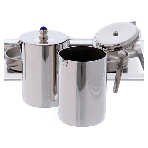 Molina cruets set for mass celebration in stainless steel 5