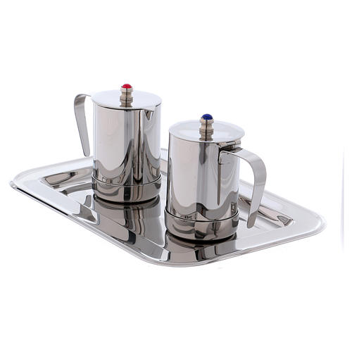 Molina cruets set for mass celebration in stainless steel 6