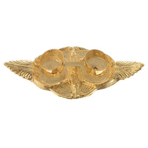 Galhetas Palma 100 ml bandeja bronze dourado 3