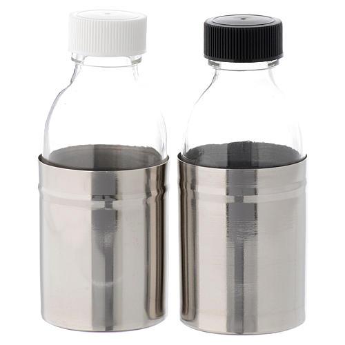 Bottiglie corazzate acqua e vino coppia 125 ml 2
