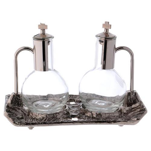Ampolle con vassoio nichel fuso 1