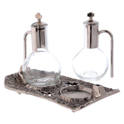 Ampolle con vassoio nichel fuso 2