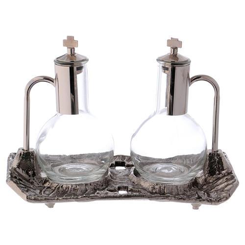 Ampolle con vassoio nichel fuso 3