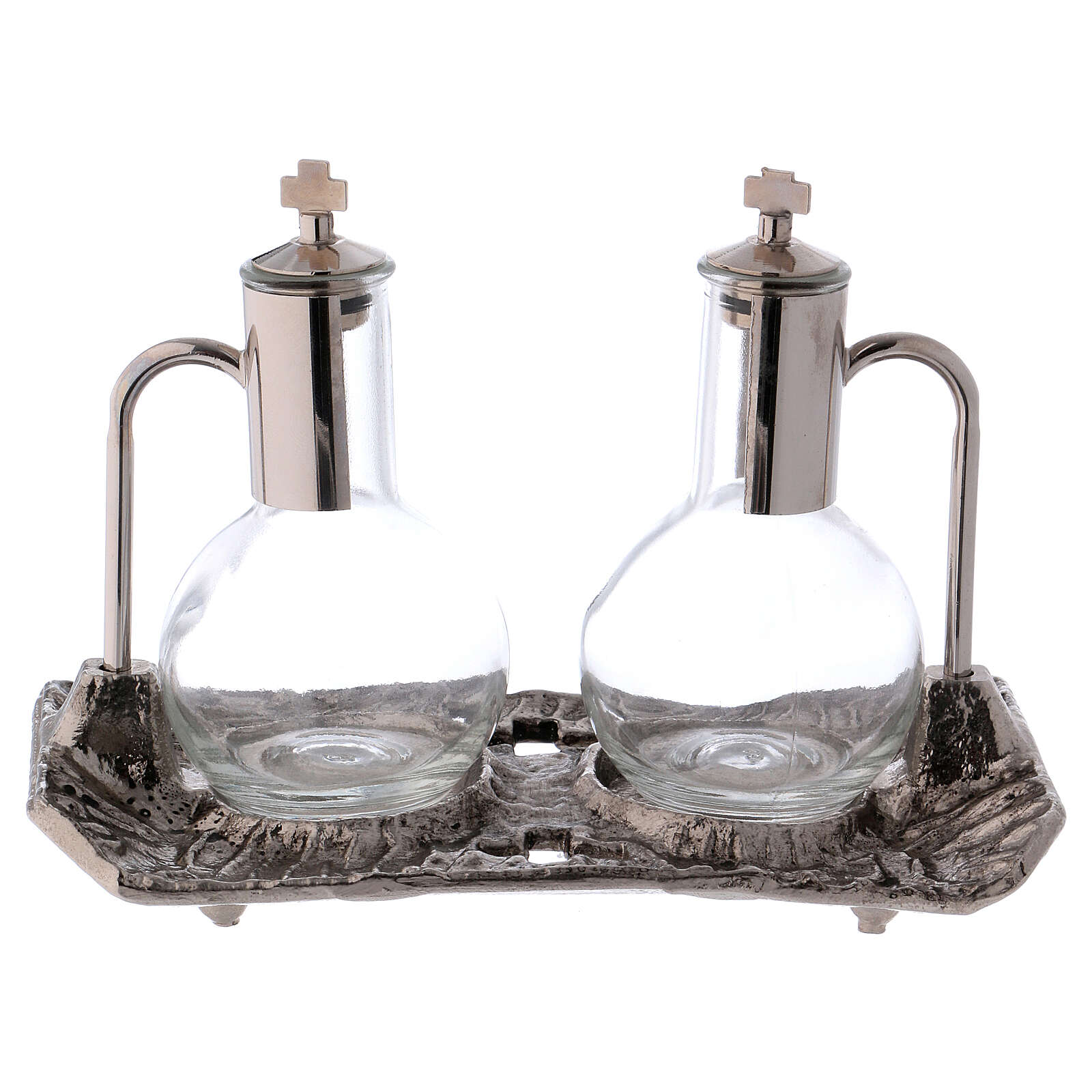 Cruet set with melted cast nickel tray 4