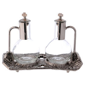 Cruet set with melted cast nickel tray s3