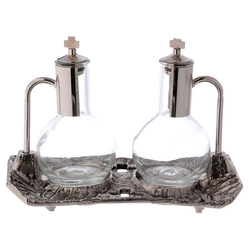 Cruet set with melted cast nickel tray 3
