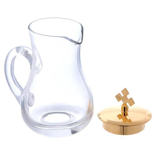 Coppia ampolline su vassoio in vetro 3