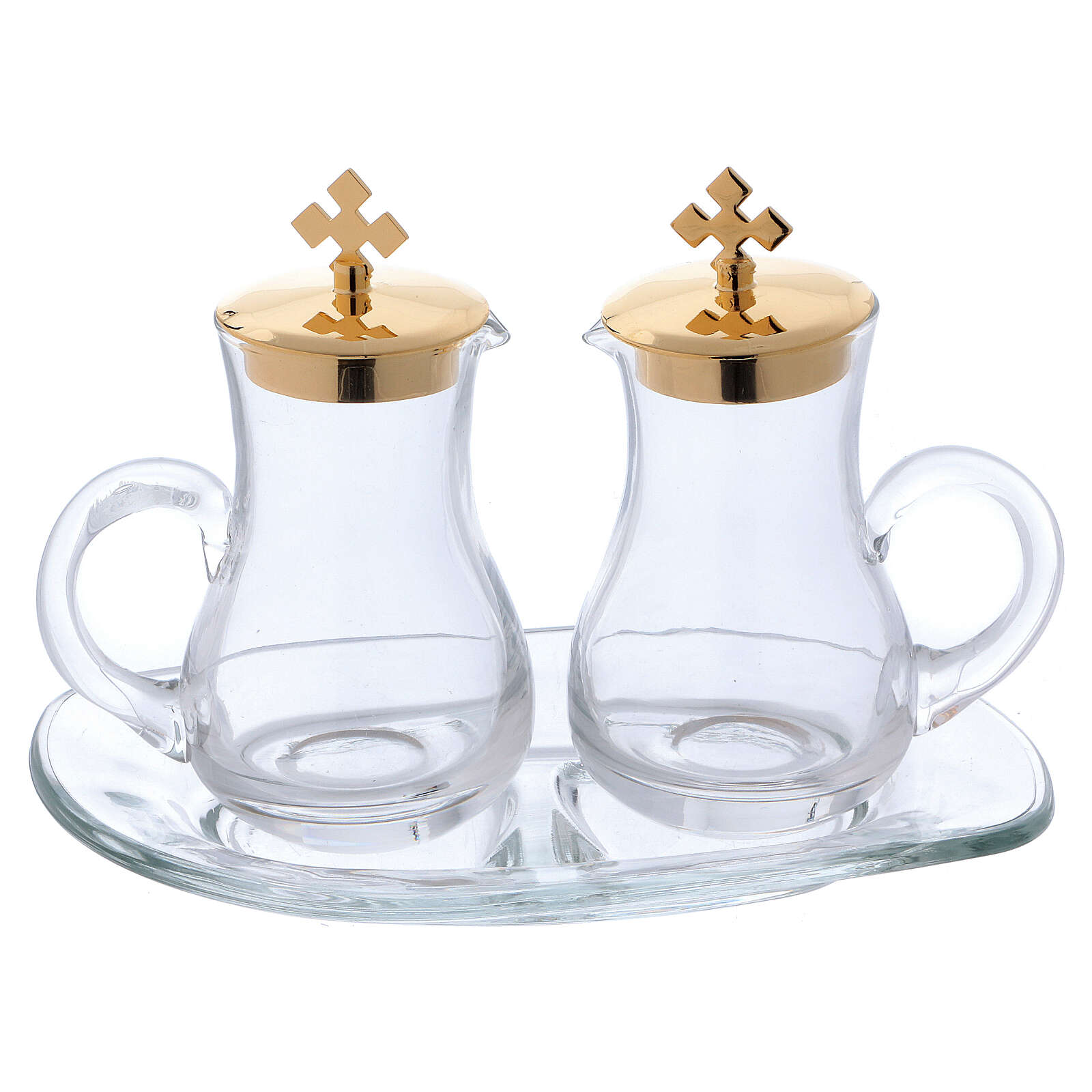 Glass cruet set with tray 4