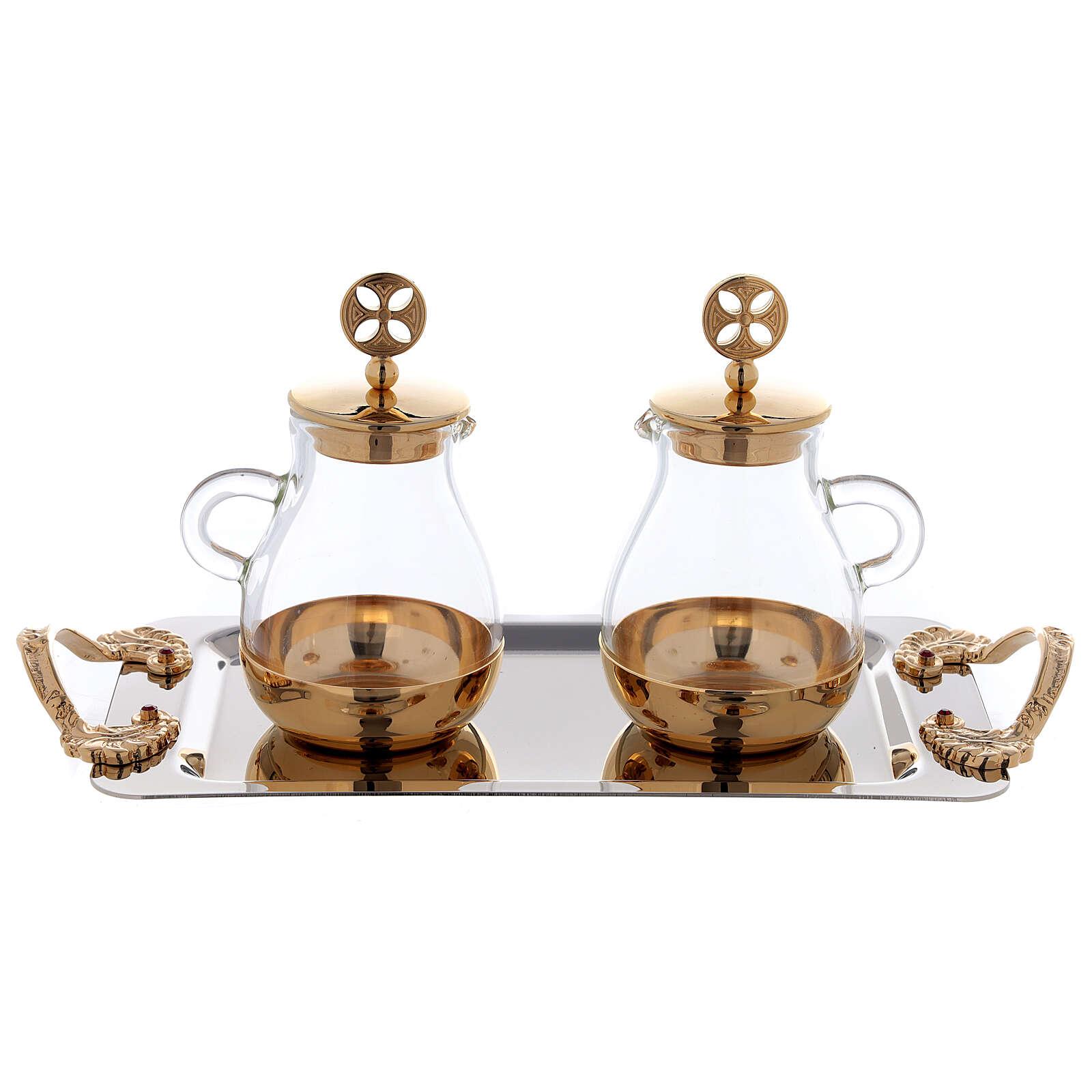 Servicio agua y vino latón dorado modelo Bolonia 4
