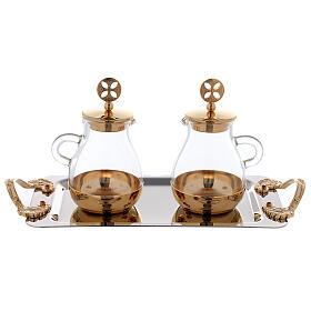 Servicio agua y vino latón dorado modelo Bolonia s1