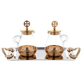 Servicio agua y vino latón dorado modelo Bolonia s3