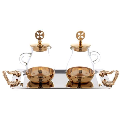 Servicio agua y vino latón dorado modelo Bolonia 3