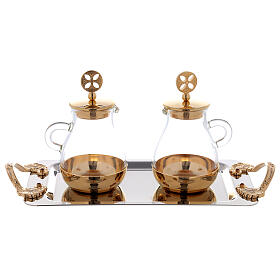 Bologna gold plated brass cruets s3