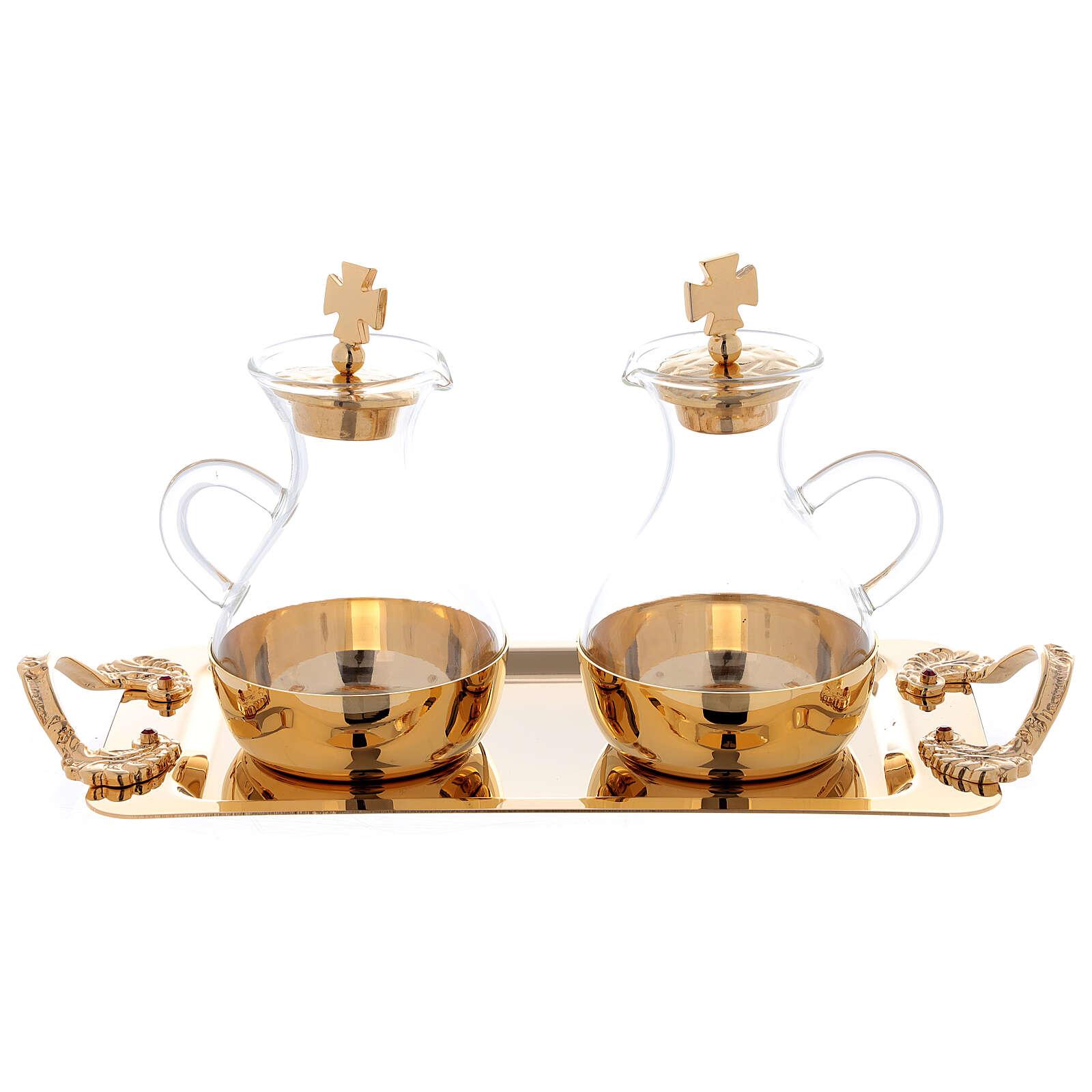 Servicio agua y vino modelo Roma dorado 24 k 4