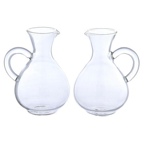 Ewer in glass Palermo model 140 ml, 2 pcs 1