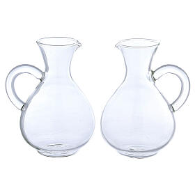 Palermo glass cruets set of 2 s1