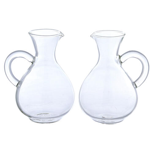 Palermo glass cruets set of 2 1