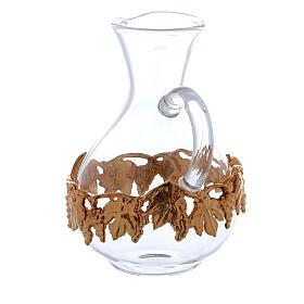 Ewer in glass and golden zamak 140 ml, 2 pcs s2