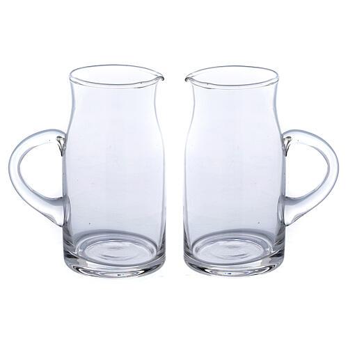 Ewer in glass Fiesole model 130 ml, 2 pcs 1