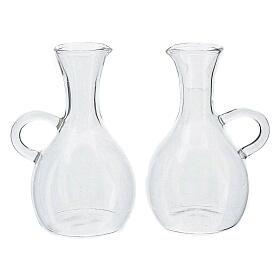 Pareja jarritas vidrio impreso modelo Venecia s1