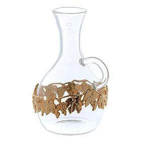 Ewer in glass and golden zamak Venezia model, 2 pcs s2