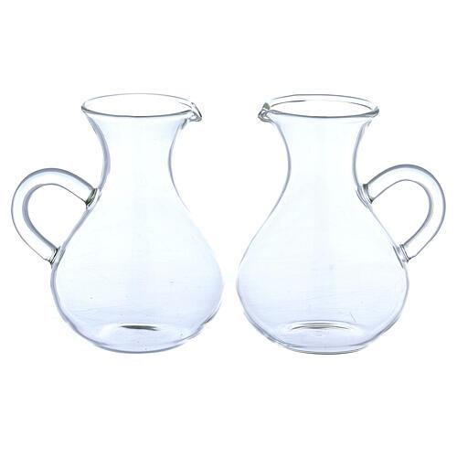 Glass Rome cruets wide bottom 130 ml 1