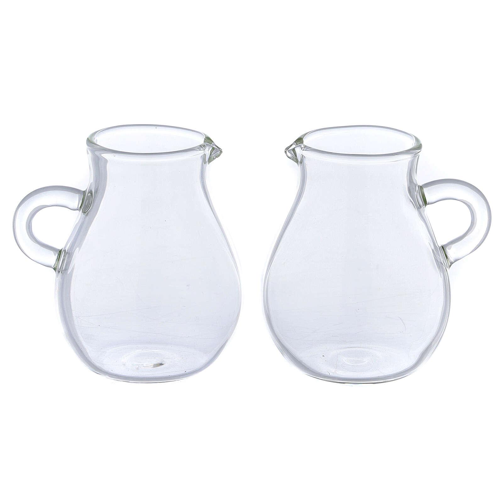Round ewer in glass 110 ml, 2 pcs 4