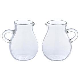 Round ewer in glass 110 ml, 2 pcs s1