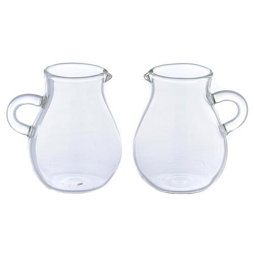Round ewer in glass 110 ml, 2 pcs 1