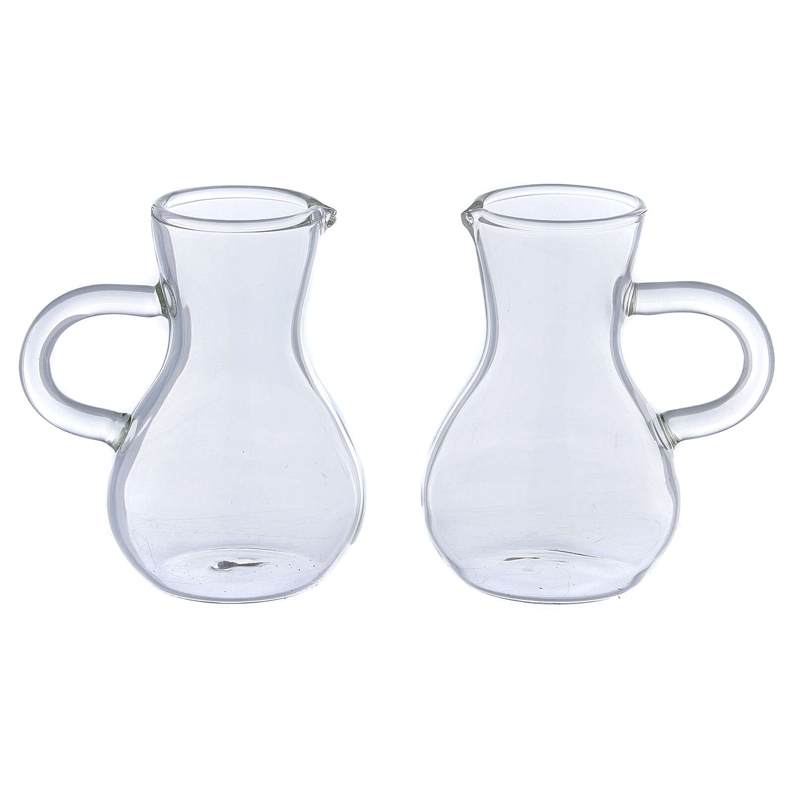 Ewer in glass thick handles 75 ml, 2 pcs 4