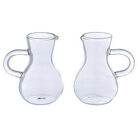 Glass cruets with thick handles 75 ml, 2 pcs s1