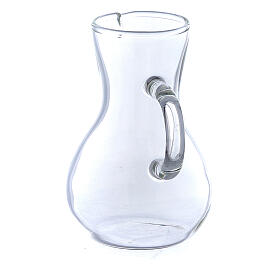 Ewer in glass thick handles 75 ml, 2 pcs s2