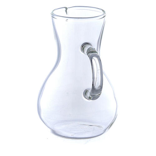 Ewer in glass thick handles 75 ml, 2 pcs 2