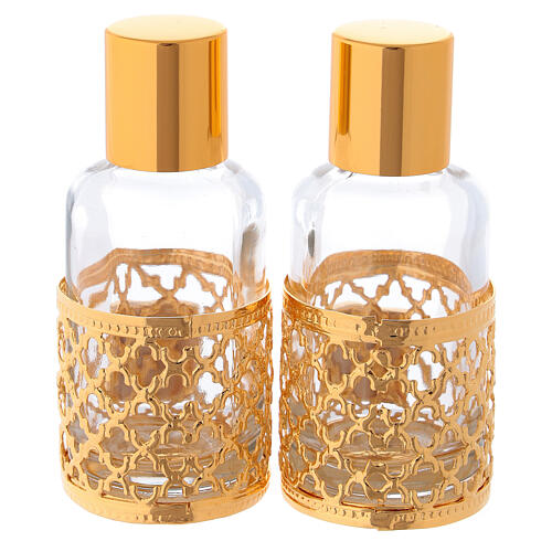 Bottles in glass with grapefruit decoration, golden 30 ml 5