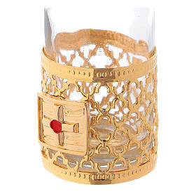 Cruets of 30 ml each with gold plated ring s3