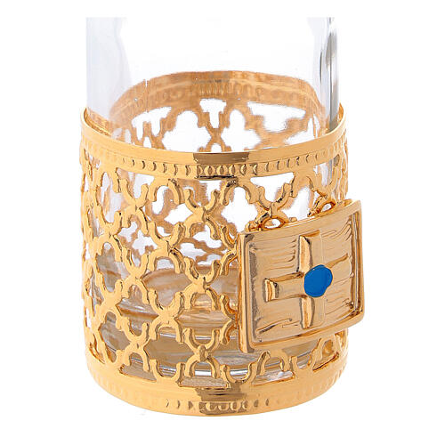 Cruets of 30 ml each with gold plated ring 4