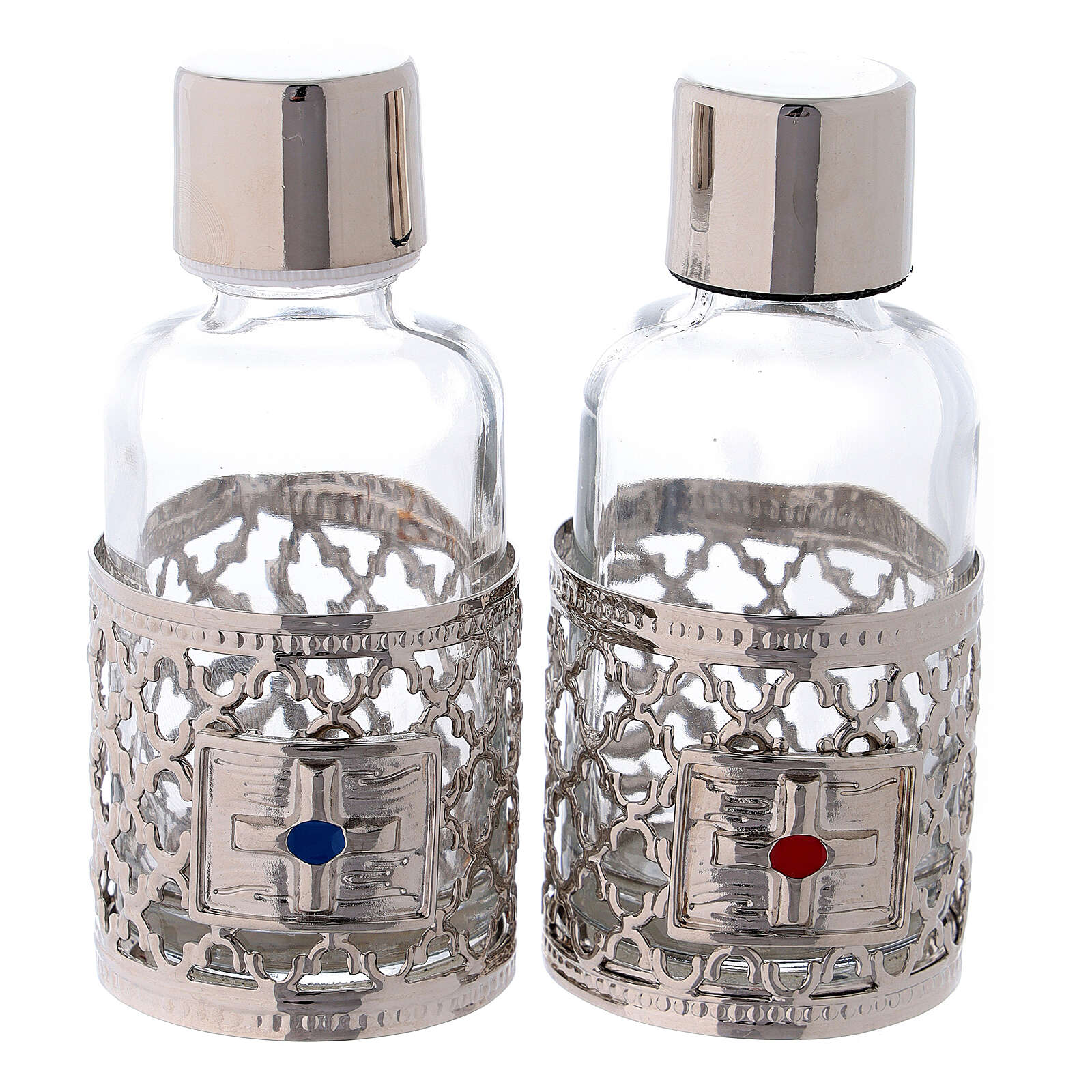 Bottles in glass with grapefruit decoration, silver tone 30 ml 4