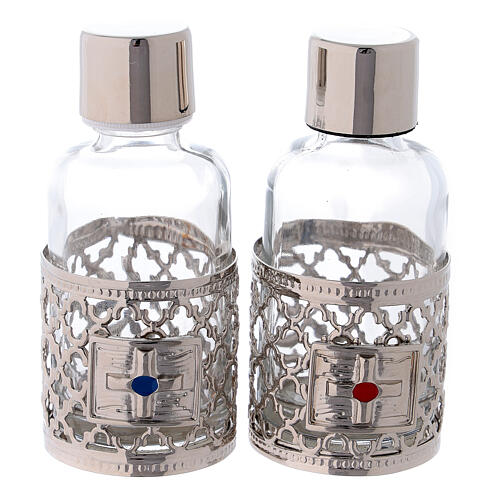 Bottles in glass with grapefruit decoration, silver tone 30 ml 1