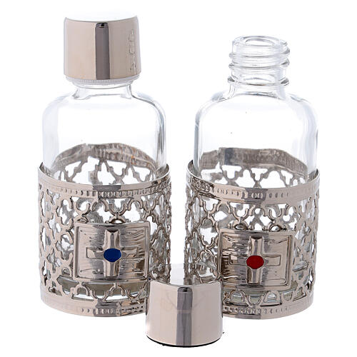 Bottles in glass with grapefruit decoration, silver tone 30 ml 2