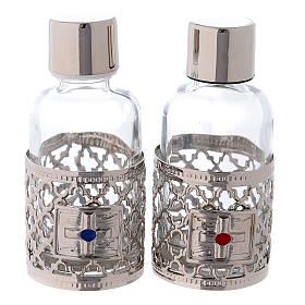 Botellas de 30 ml para agua y vino con motivo plateado s1