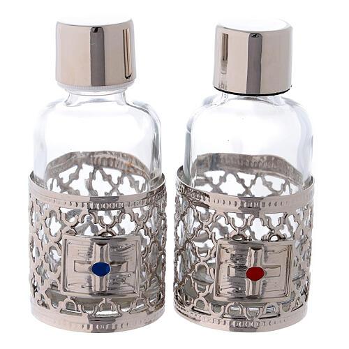 Botellas de 30 ml para agua y vino con motivo plateado 1