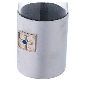 Burettes 125 ml en verre et collier en aluminium s3