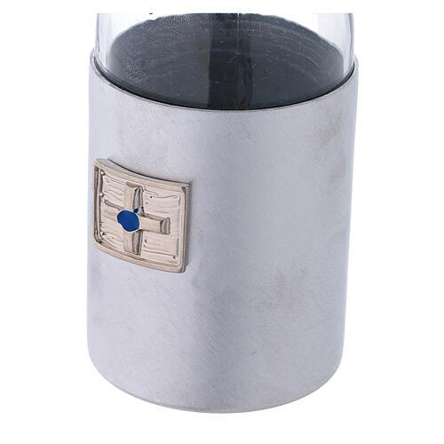 Burettes 125 ml en verre et collier en aluminium 3