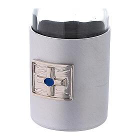 Burettes 30 ml en verre et collier en aluminium s3
