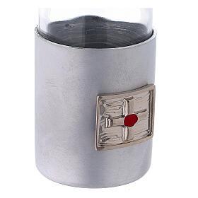 Burettes 30 ml en verre et collier en aluminium s4