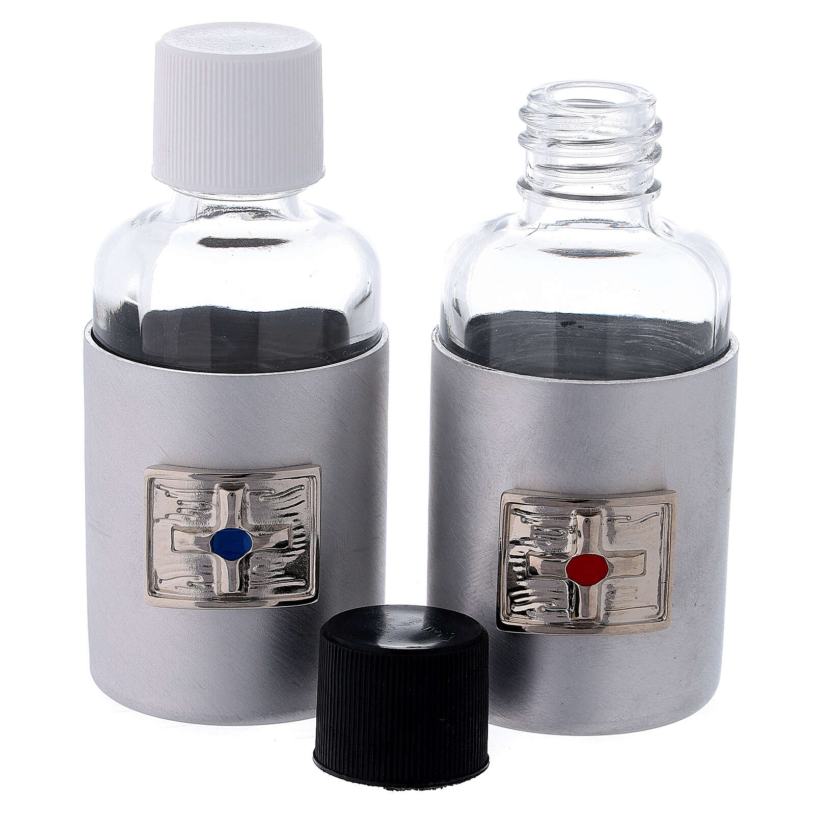 Glass cruets of 30 ml with aluminium shell 4