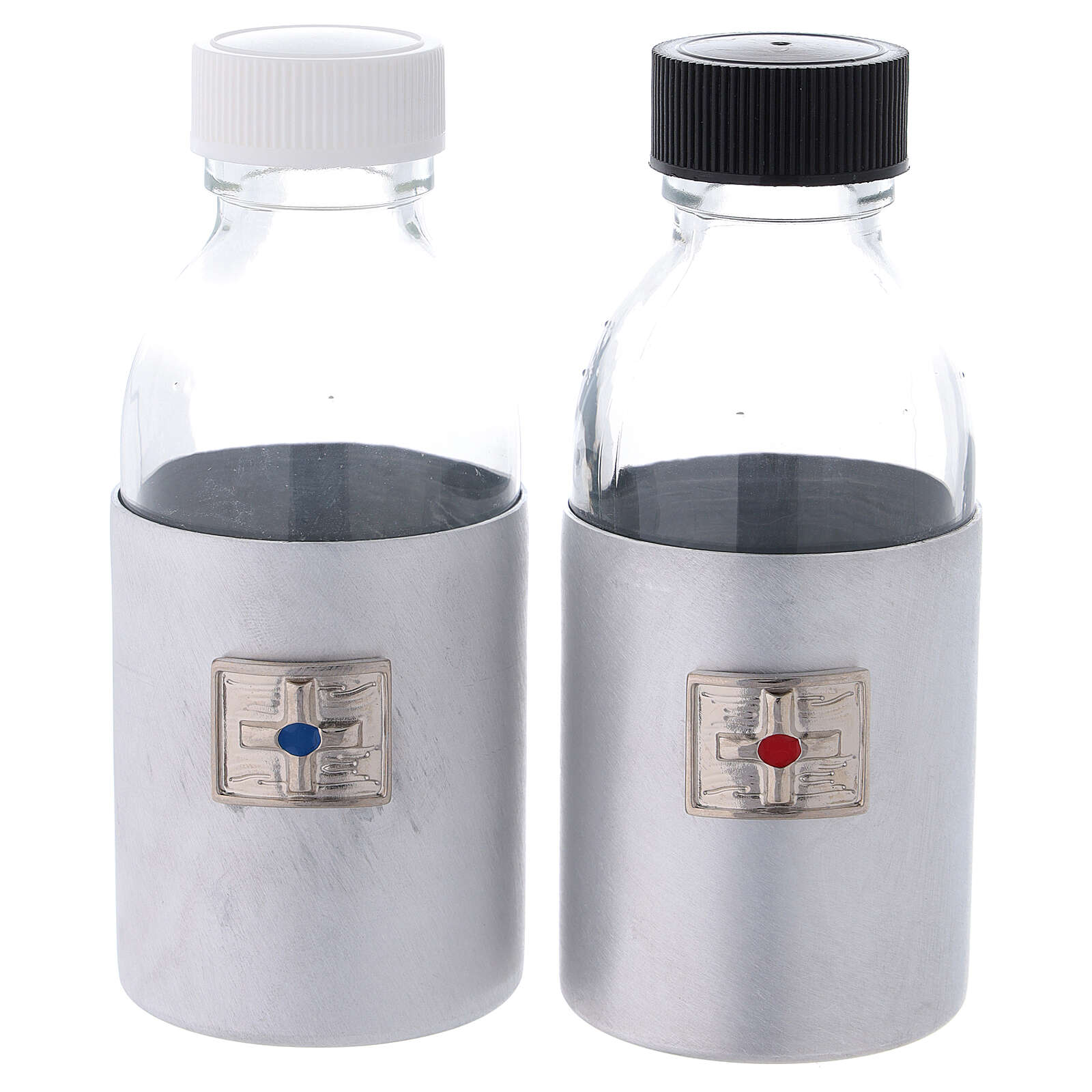 Bottles in glass with eco-leather case 125 ml 4