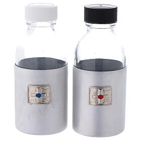 Bottles in glass with eco-leather case 125 ml s1
